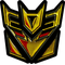 Gold Decepticon Decal / Sticker 42