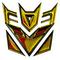 Gold Decepticon Decal / Sticker 43