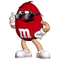 Red M&M Decal / Sticker 62