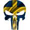 Swedish Flag Punisher Decal / Sticker 172