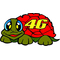 Valentino Rossi Tartarughina (Turtle) Decal / Sticker 02
