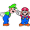 Mario and Luigi Decal / Sticker