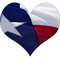 Texas Flag Heart Decal / Sticker 02