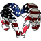 American Flag Ram 01 Decal / Sticker
