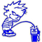 Z1 Pee on Gas Pump Full Color Decal / Sticker