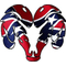 Rebel Flag Ram Decal / Sticker 02