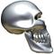 3D Chrome Skull 05 Decal / Sticker
