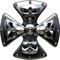 Chrome Maltese Cross Skull Decal / Sticker