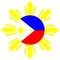 Filipino Sun Decal / Sticker 02