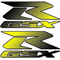 Black to Yellow GSXR pair Decals / Stickers