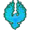 Aqua True Fire Bird Decal / Sticker