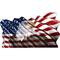 American Flag Waving Eagle Decal / Sticker 08