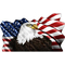American Flag Eagle Waving Decal / Sticker 09