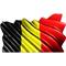 Belgium Flag Waving Decal / Sticker
