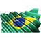 Brazilian Flag Waving Decal / Sticker