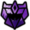 Decepticon G2 Purple Carbon Plate Decal / Sticker