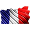 France Flag Waving Decal / Sticker