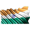 India Flag Waving Decal / Sticker