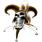 Orange Jester Skull Decal / Sticker