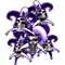 Purple Jester Skulls Decal / Sticker
