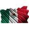 Mexican Flag Waving Decal / Sticker