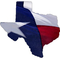 Texas State with Flag Decal / Sticker