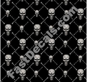 Designer Skull Pattern Decal